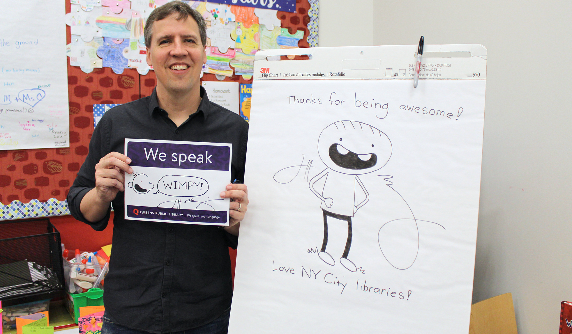 Jeff Kinney at Queens Public Library