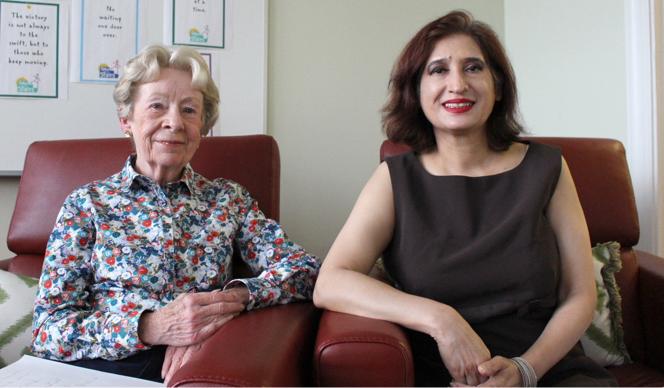 Nancy Cafferty and Dr. Raana Mahmood