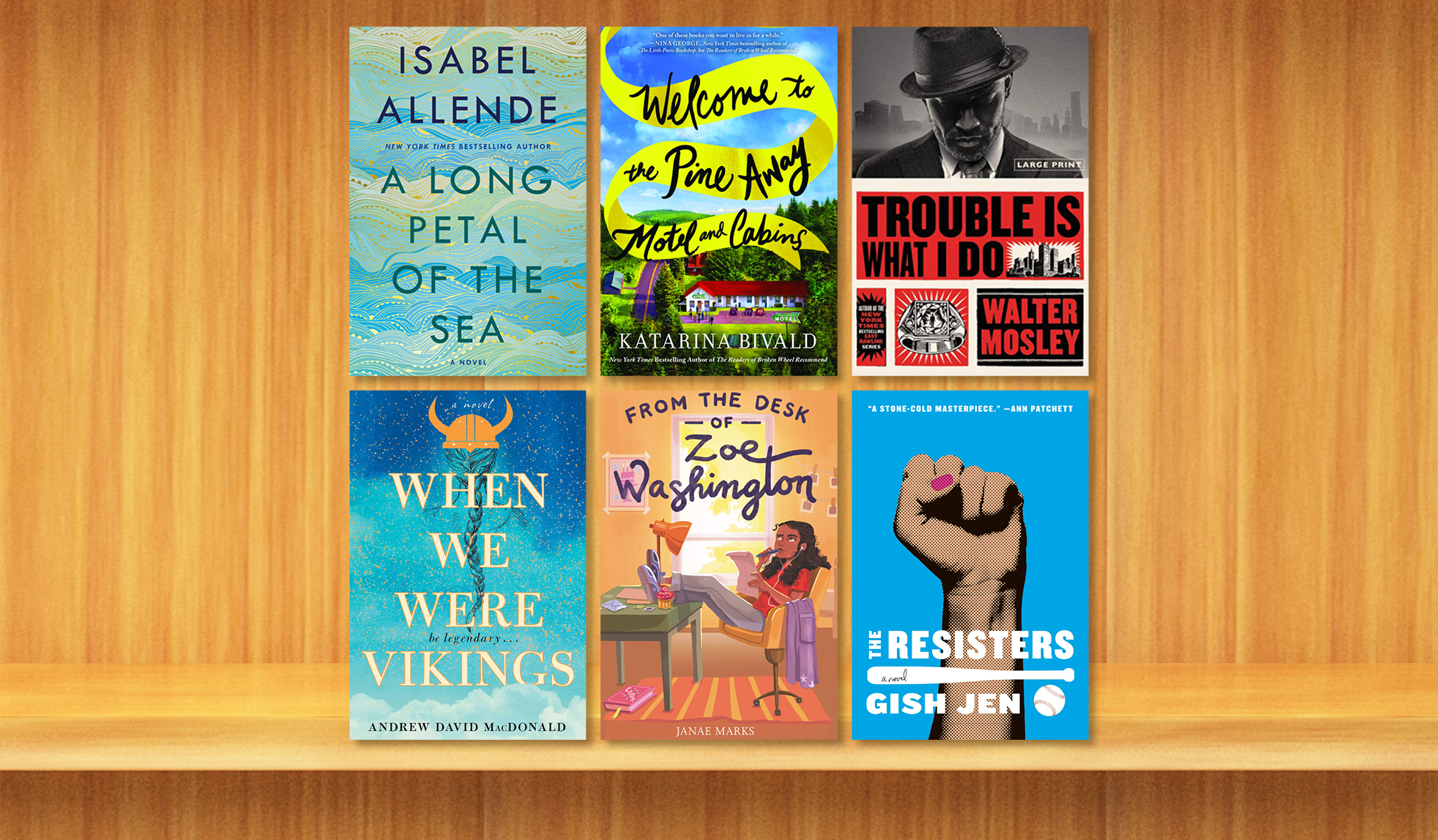 Enjoy new works from Isabel Allende, Walter Mosley, and more.