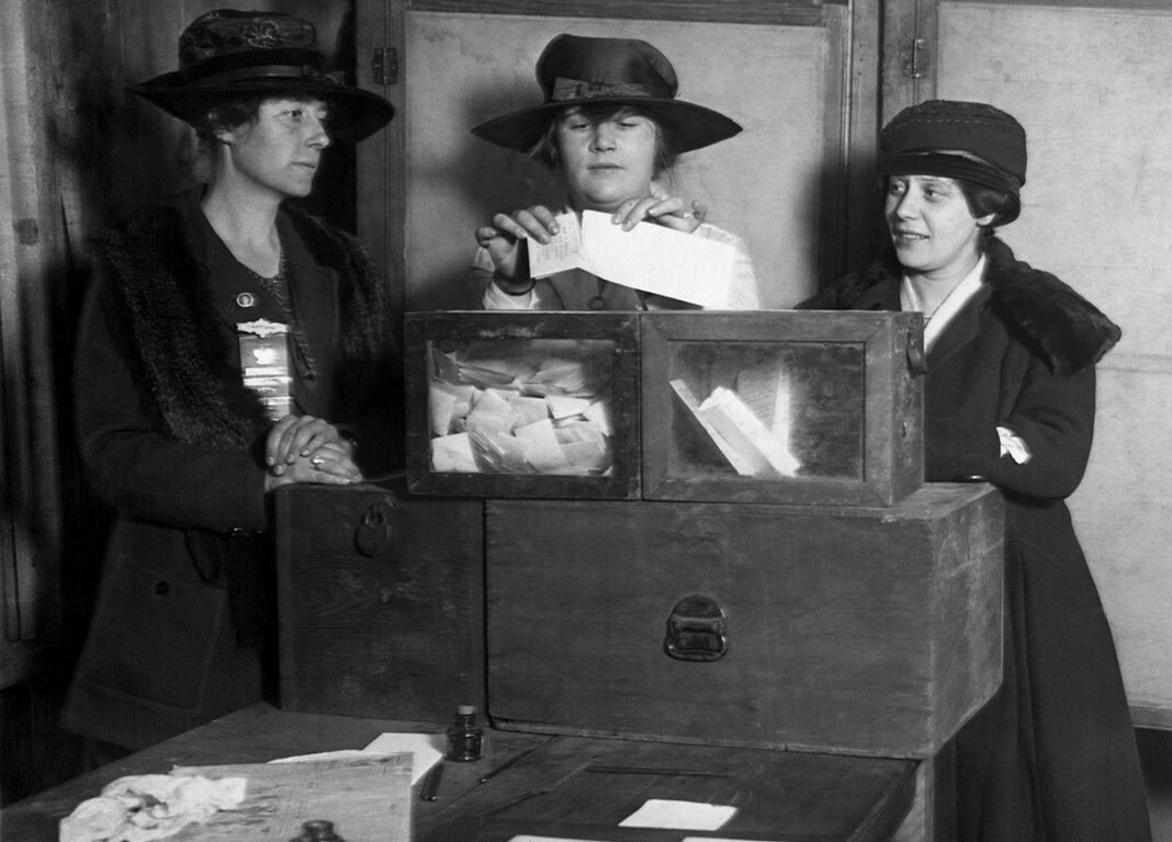 Women Casting Their Vote