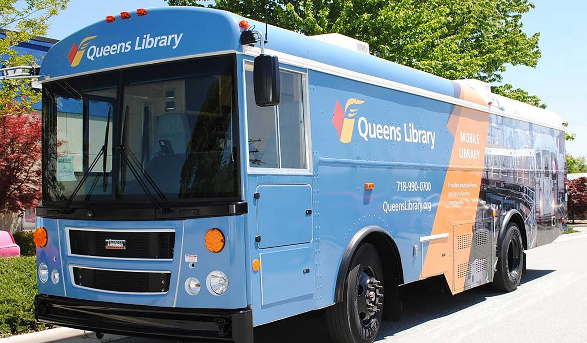 We're taking the mobile library on a tour of Queens. Stop by and see us when we're in your neighborhood!