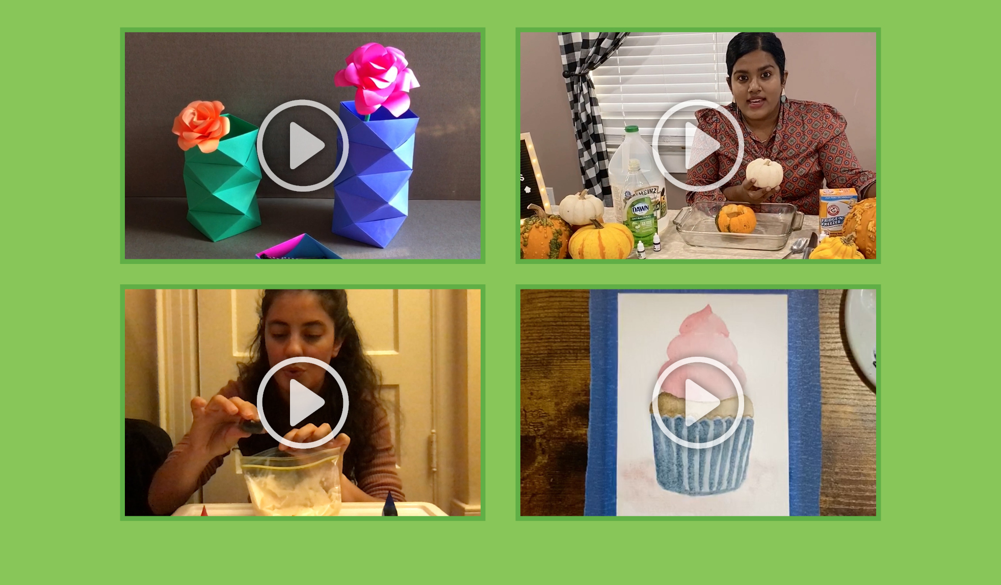 Learn crafts, participate in sing-longs, and see tutorials on our dabatases.