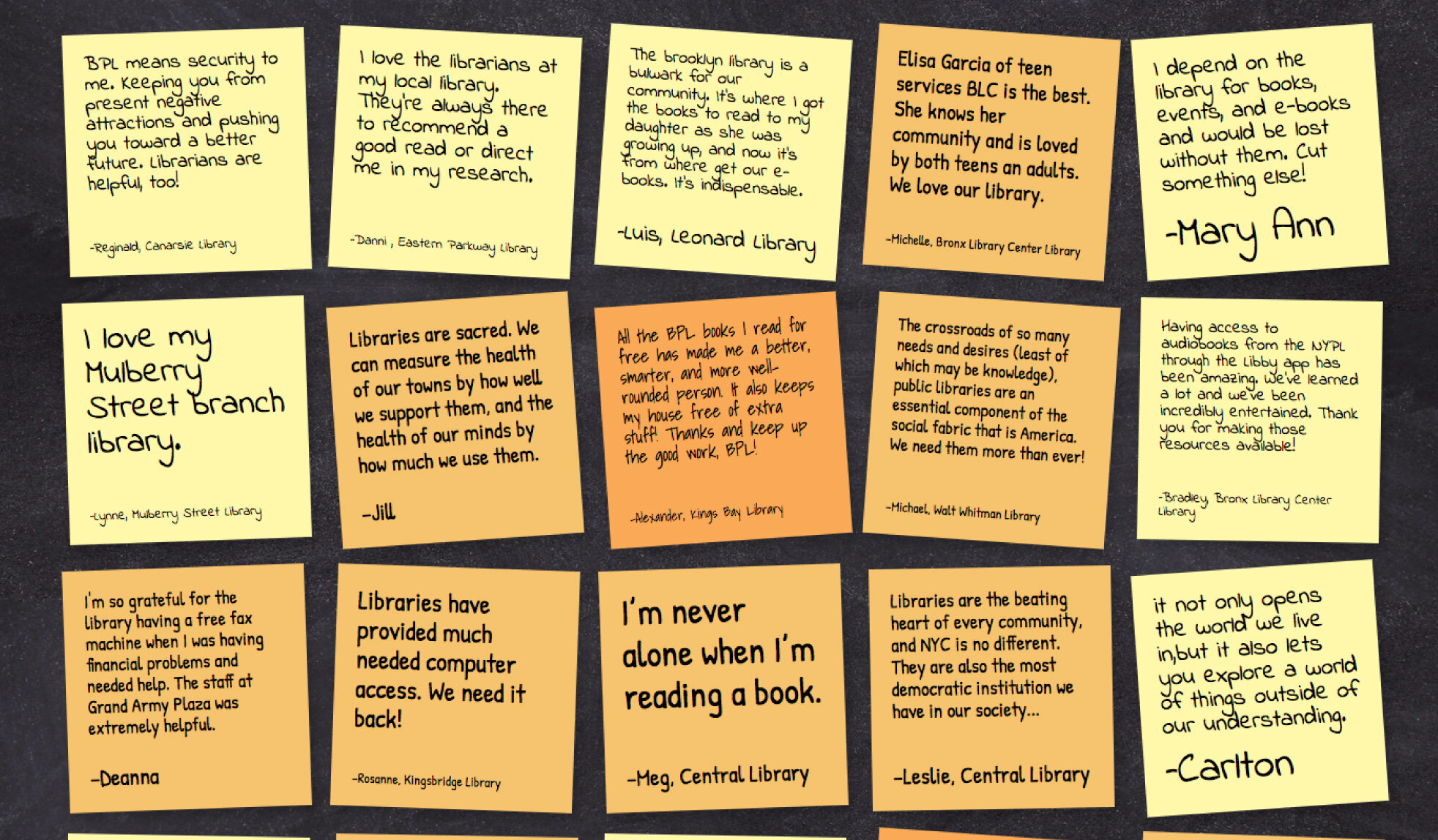 How have libraries been there for you? Show your love for libraries by posting a virtual sticky note!